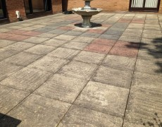 Concrete slab patio needs pressure washing. Patio washing Norfolk