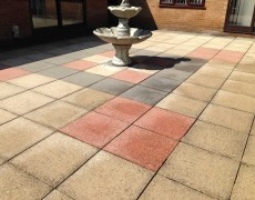 Concrete slab patio needs pressure cleaning. Patio washing Norfolk