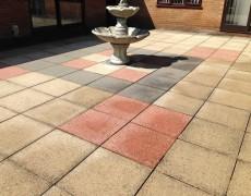 Concrete slab patio needs pressure cleaning. Patio washing Norfolk