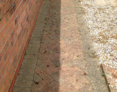 footpath that needs pressure washing