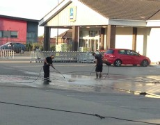 Norfolk pressure washing - car park cleaning