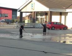 Norfolk pressure washing - car park cleaning