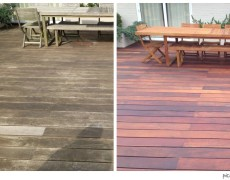 deck and table