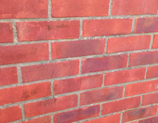 brick washed, wall washed, building cleaning